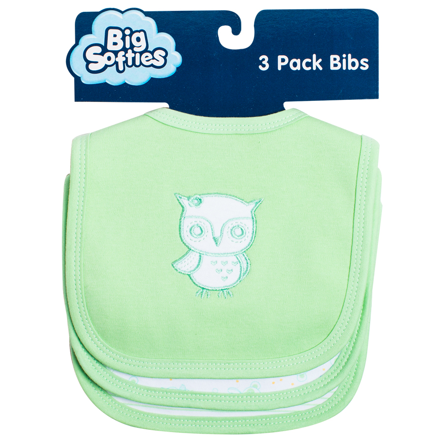 F308 | Owl | Big Softies | Bibs